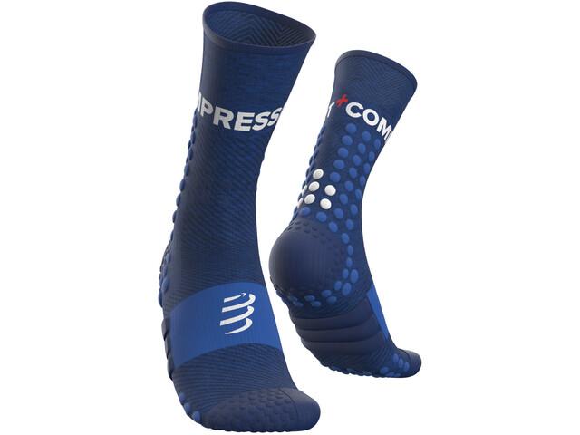 Compressport Ultra Trail Chaussettes, blue melange